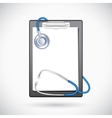 Clipboard with Stethoscope vector image vector image