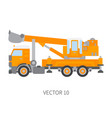 color plain icon construction machinery vector image vector image