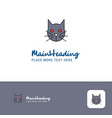 creative cat logo design flat color logo place vector image vector image