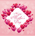 cute card happy mothers day balloons frame vector image vector image