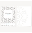 Decorative sheet of paper with oriental design vector image vector image