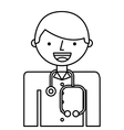 doctor man professional icon vector image vector image