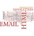email newsletter format html or text text vector image vector image