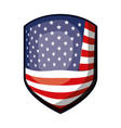 emblem of flag united states of america colorful vector image