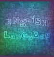 english language pattern vector image vector image