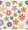 Fantasy flowers vintage seamless pattern vector image
