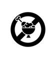 fasting black glyph icon vector image