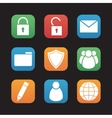 File manager flat design icons set vector image vector image