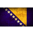 Flags of Bosnia and Herzegovina with dirty paper vector image