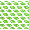 flat green leave pattern background nature vector image