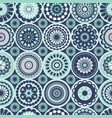 floral geometric botanical 60s moroccan tile vector image vector image