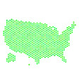 green honeycomb usa with alaska map vector image vector image