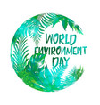 Greeting card or banner to world environment day