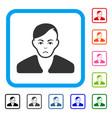 guy framed unhappy icon vector image