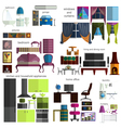 House remodeling infographic Set flat interior vector image vector image