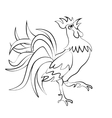 Image rooster silhouette on a white background vector image vector image