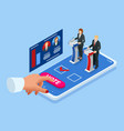 isometric online voting and election concept e vector image