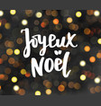 joyeux noel text holiday greetings merry vector image