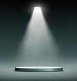 Lantern illuminates round scene vector image vector image