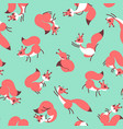 little cute squirrels seamless pattern for gift vector image vector image