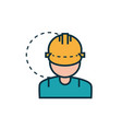 male worker with helmet work tools engineering vector image