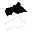 map central african republic isolated vector image vector image