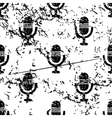 Microphone pattern grunge monochrome vector image vector image
