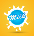 Milk label lettering vector image vector image