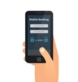 Mobile banking online payments vector image vector image