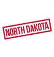 North Dakota rubber stamp vector image vector image