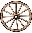 old wooden wheel vector image