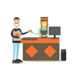 people shopping in flat style vector image vector image