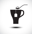 Pouring sugar in coffee or tea cup vector image