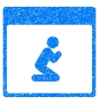 Pray Person Calendar Page Grainy Texture Icon vector image vector image
