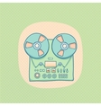 Reel-to-reel audio tape recorder vector image