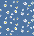 retro daisy simple blue florals seamless vector image