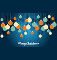 retro decorative christmas balls christmas card vector image vector image