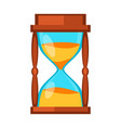 sand clock time measurement instrument vector image vector image