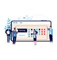 schedule concept business entrepreneurship vector image vector image