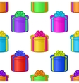 Seamless background with gift boxes vector image