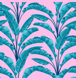 seamless banana leaves tropical pattern vector image