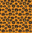 Seamless pattern Of Vintage Happy Halloween vector image vector image