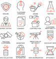 Set of icons related to business management - 17 vector image vector image