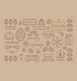 set of linear cocoa labels original vector image vector image