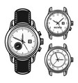 set of men mechanical watches vector image vector image