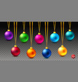 set of nine shiny bright and realistic colored vector image vector image