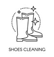 shoes cleaning company service for vintage boots vector image