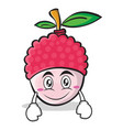 smile face lychee cartoon character style vector image vector image