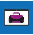 sport laptop app concept sport bag vector image