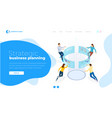 strategic business planning isometric business vector image vector image